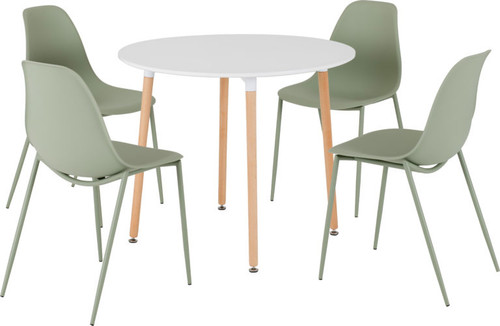 Lindon Dining Set in Green
