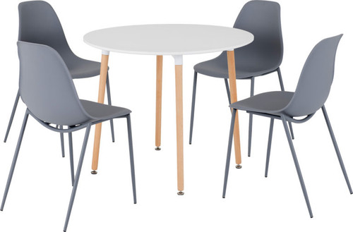 Lindon Dining Set in Grey
