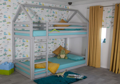 Play House Bunk Bed in Grey