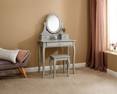 Grace LED Grey Dressing Table Set