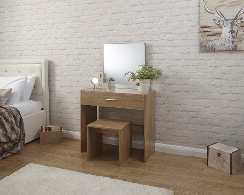 Julia Oak Effect Dressing Table Set