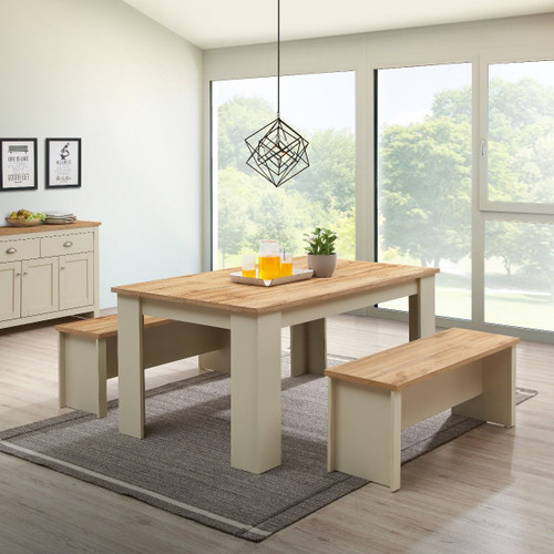 Lisbon Dining Table 150cm with 2 Benches