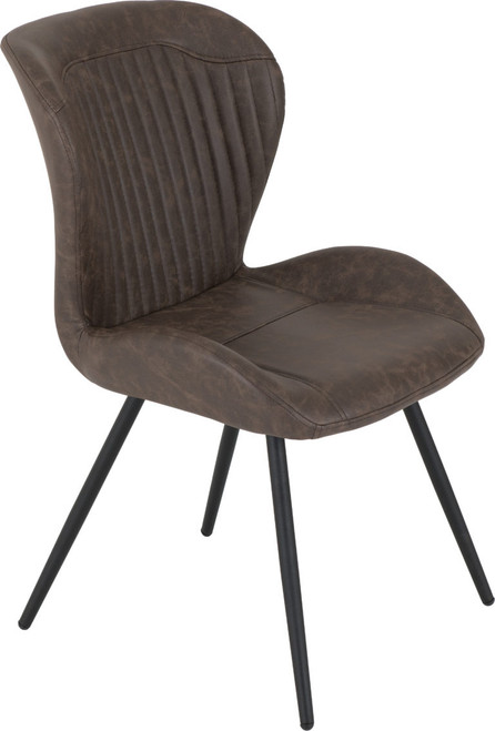 Quebec Brown Faux Leather Dining Chairs