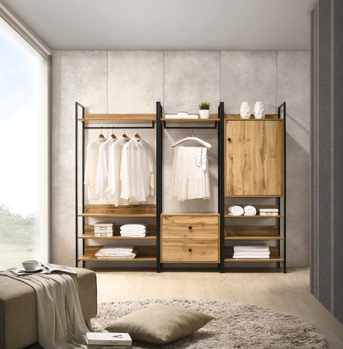 Zahra 3 Piece Bedroom Furniture Set in Oak