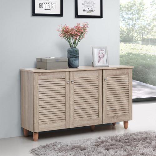 Essentials Sonoma Oak 3 Door Shoe Cabinet