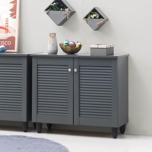 Essentials Grey 2 Door Shoe Cabinet