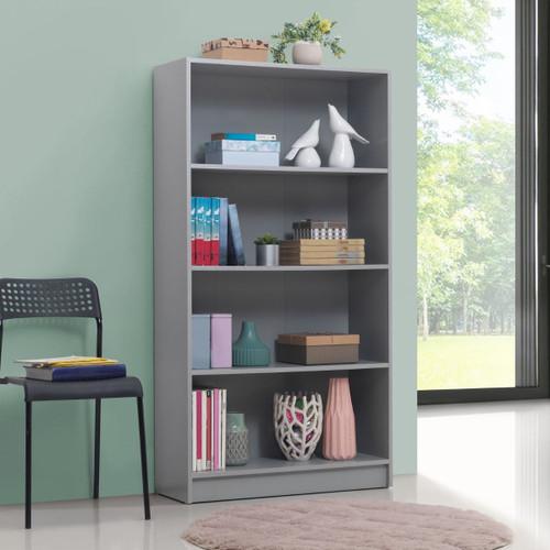 Essentials Light Grey Tall Bookcase