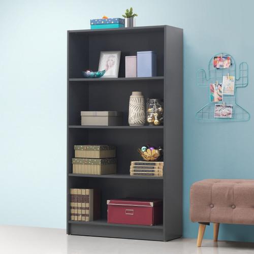Essentials Dark Grey Tall Bookcase