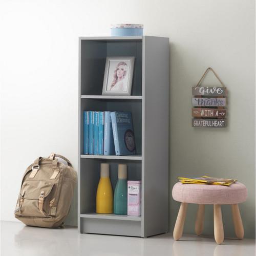 Essentials Light Grey Medium Narrow Bookcase