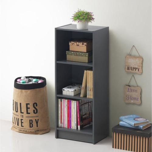 Essentials Dark Grey Medium Narrow Bookcase