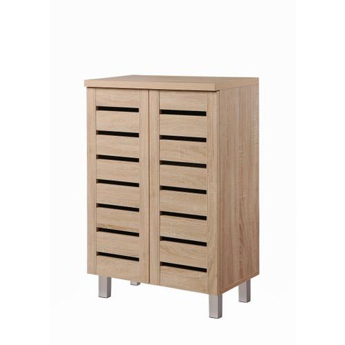 Scandi Sonoma Oak 2 Door Shoe Cabinet