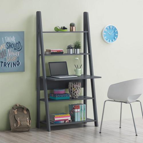 Riva Dark Grey Tall Ladder Desk