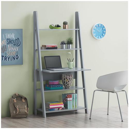 Riva Light Grey Tall Ladder Desk