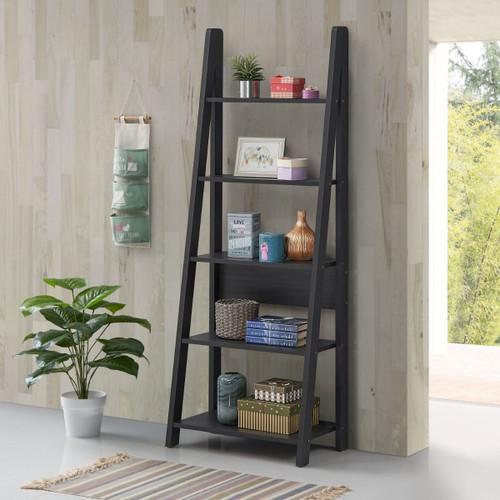 Riva Black Ladder Bookcase