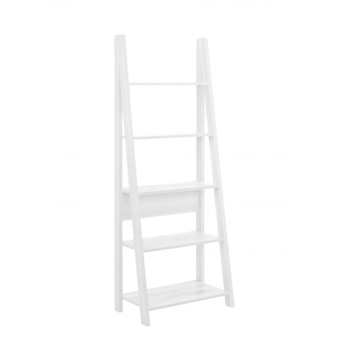 Riva White Ladder Bookcase
