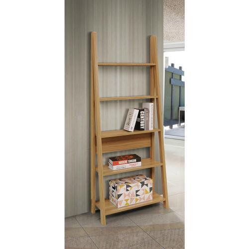 Riva Oak Effect Ladder Bookcase