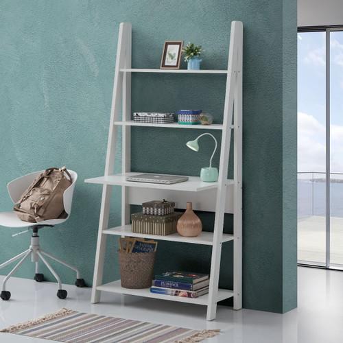 Riva White Tall Ladder Desk
