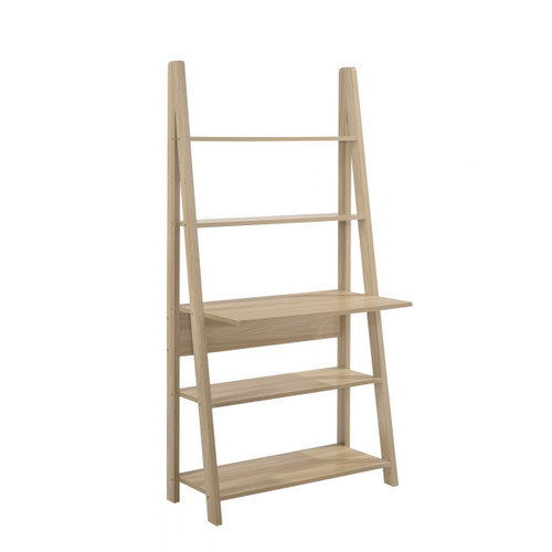 Riva Oak Effect Tall Ladder Desk
