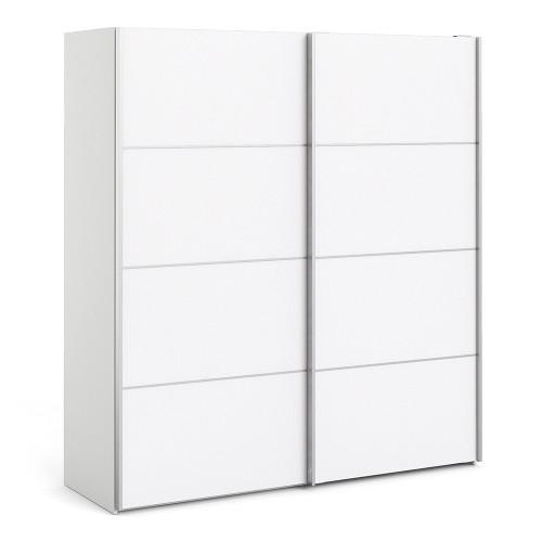 Verona 180cm Sliding Wardrobe with 2 Shelves in White