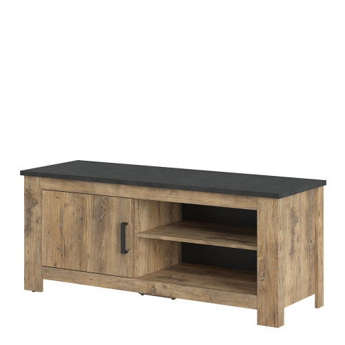 Rapallo Chestnut and Grey Small TV Cabinet with 1 Door