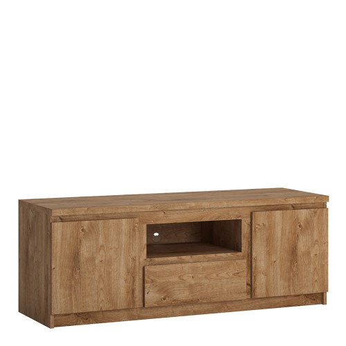 Fribo Oak TV Cabinet with 2 Doors and 1 Drawers