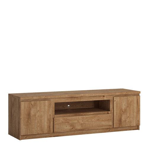 Fribo Large Oak TV Cabinet with 2 Doors and 1 Drawers