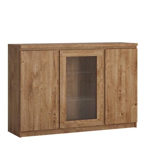 Fribo Oak 3 Door Sideboard with Glazed Centre