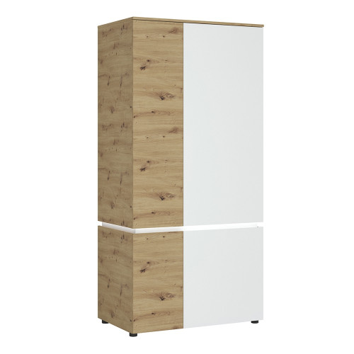 Luci White and Oak 4 Door Wardrobe (including LED lighting)