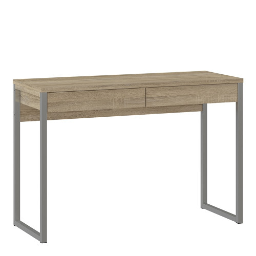 Function Oak Plus Desk with 2 Drawers