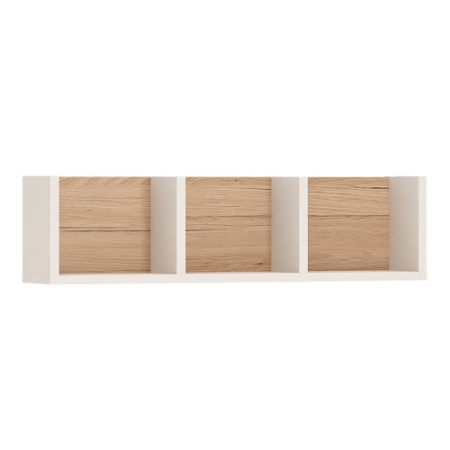 4KIDS Oak and White Sectioned Shelf
