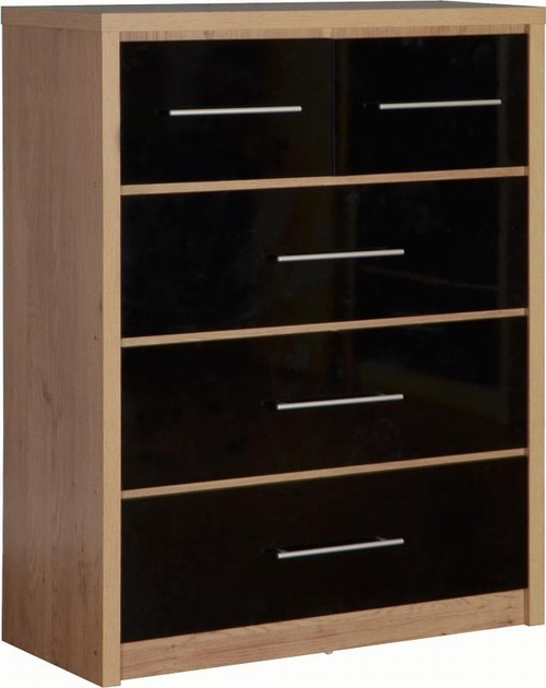 Seville Black 3+2 Drawer Chest