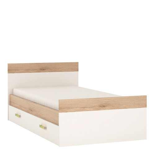 4KIDS Bed with an Underbed Drawer with Lemon Handles