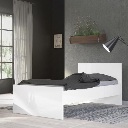 Naia White Gloss Single Bed