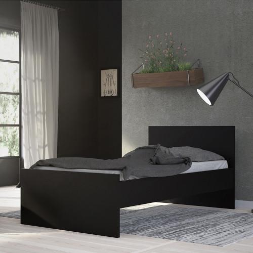 Naia Matt Black Single Bed