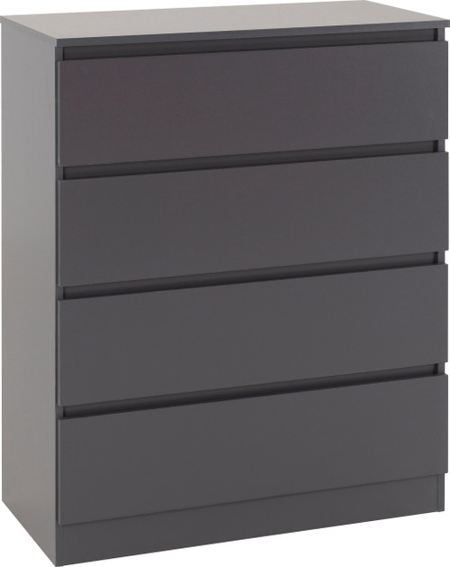 Malvern Grey 4 Drawer Chest