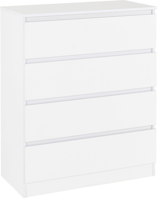 Malvern White 4 Drawer Chest