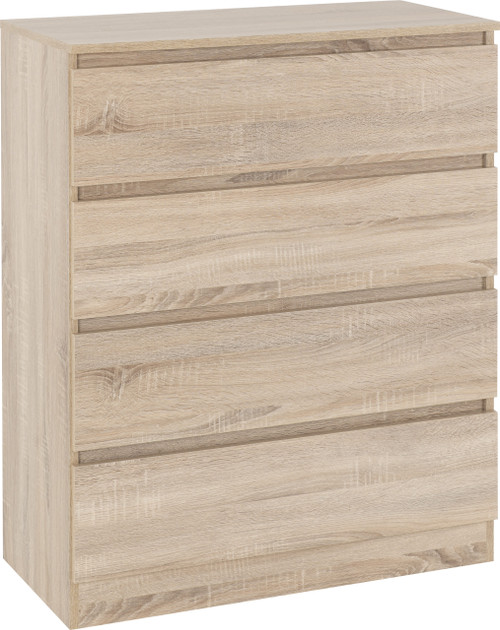 Malvern Sonoma Oak 4 Drawer Chest
