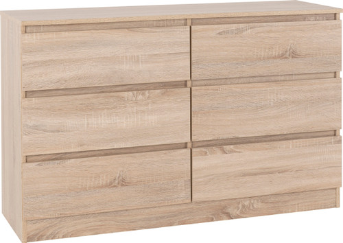 Malvern Sonoma Oak 6 Drawer Chest