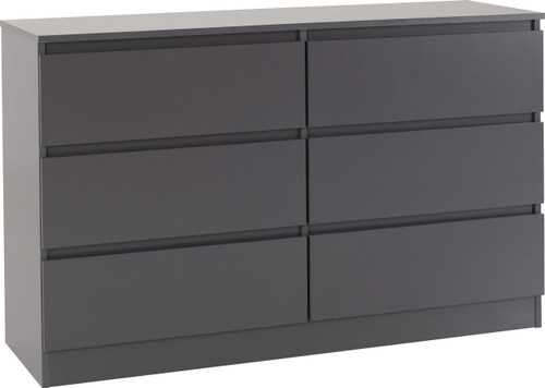 Malvern Grey 6 Drawer Chest