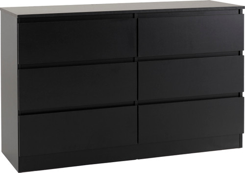 Malvern Black 6 Drawer Chest