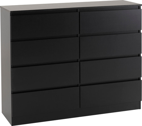 Malvern Black 8 Drawer Chest