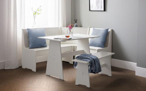 Newport Corner Dining Set in Surf White