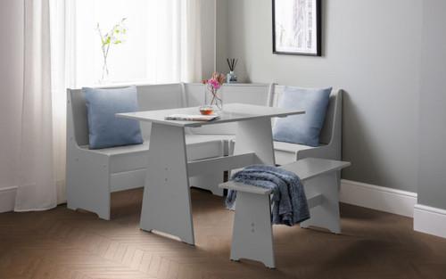 Newport Corner Dining Set in Dove Grey