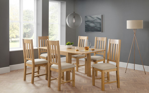 Astoria Flip-top Dining Table with 6 Hereford Chairs