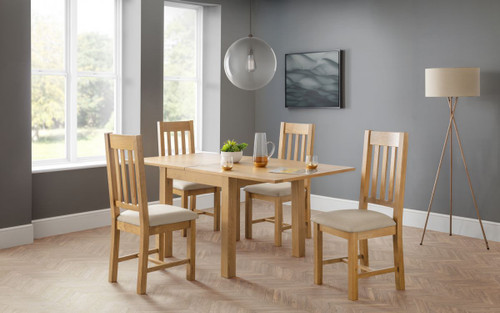 Astoria Flip-top Dining Table with 4 Hereford Chairs