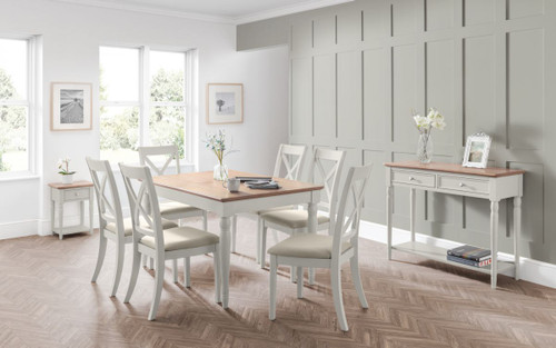Provence Dining Table Set with 6 Chairs