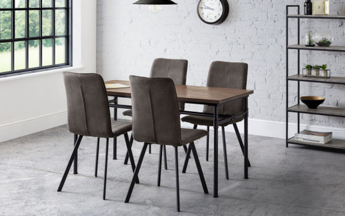 Carnegie Dining Table with 4 Monroe Chairs