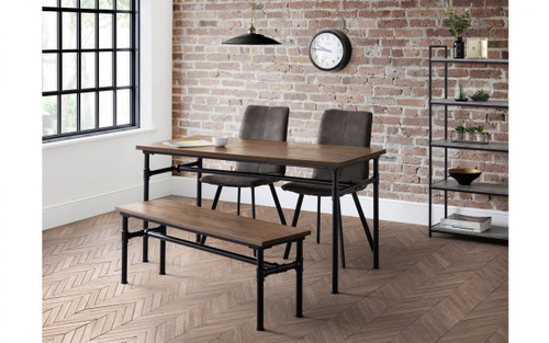 Carnegie Dining Table, Bench and 2 Monroe Chairs