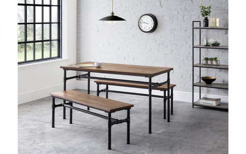Carnegie Dining Table with 2 Benches