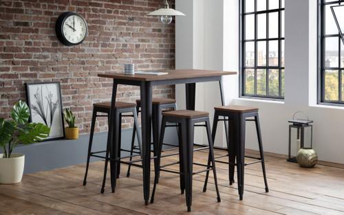 Grafton Bar Table with 4 Grafton Backless Bar Stools